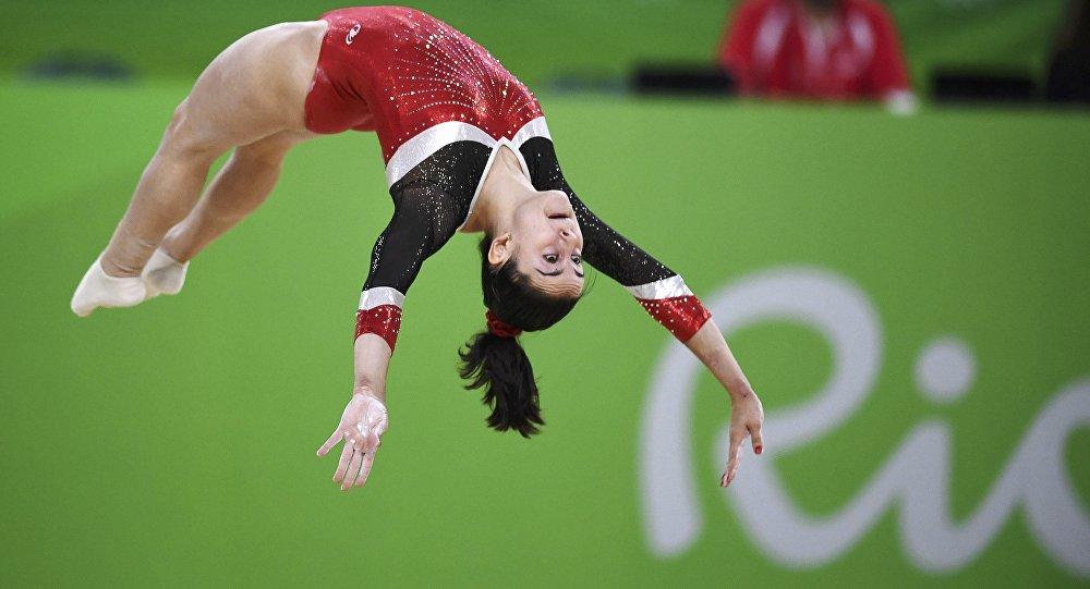 La gimnasta española Ana Pérez