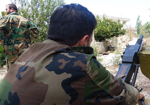 El Ejército sirio durante los combates en Latakia