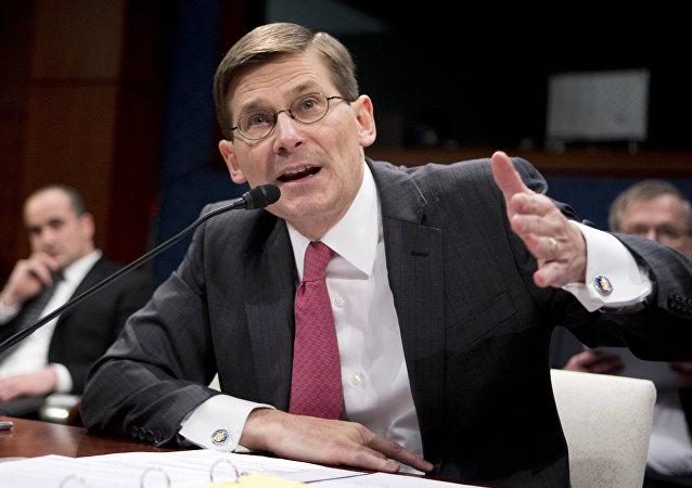 Michael Morell testifica ante el Senado en Washington, EEUU, 2 de abril de 2014