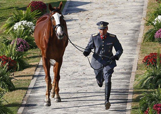 Carlos Lobos, equitador chileno