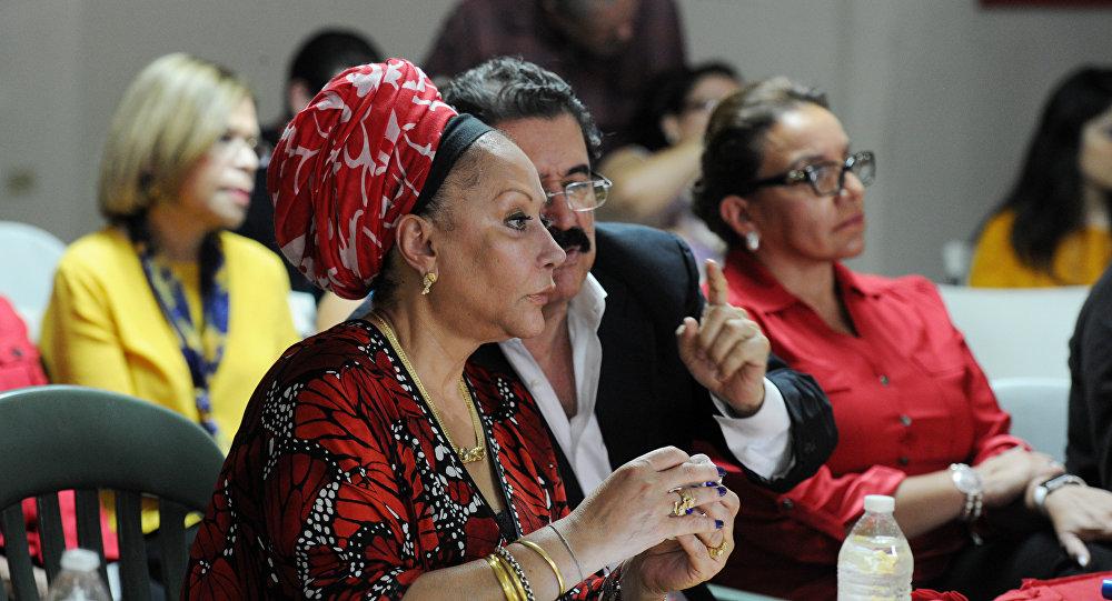 Piedad Córdoba, exsenadora de izquierda colombiana