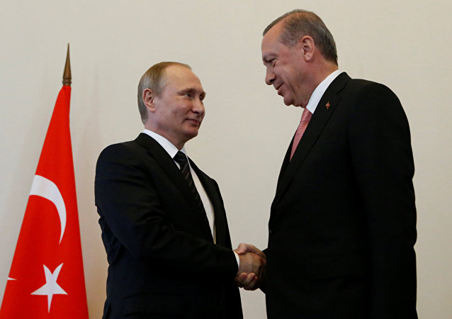 Vladímir Putin, presidente de Rusia, con su homólogo turco, Recep Tayyip Erdogan (archivo)