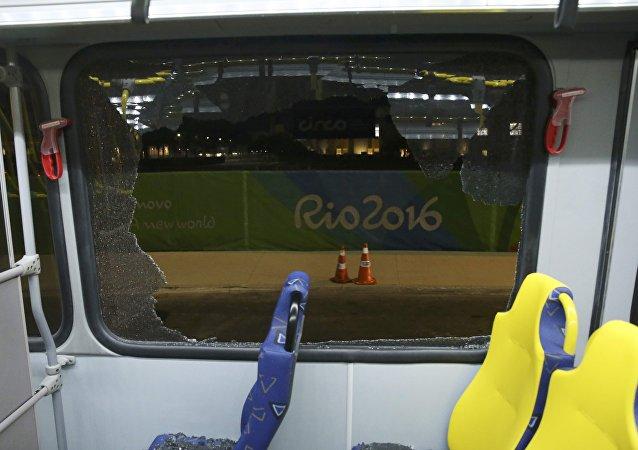 El autobús atacado en Río de Janeiro