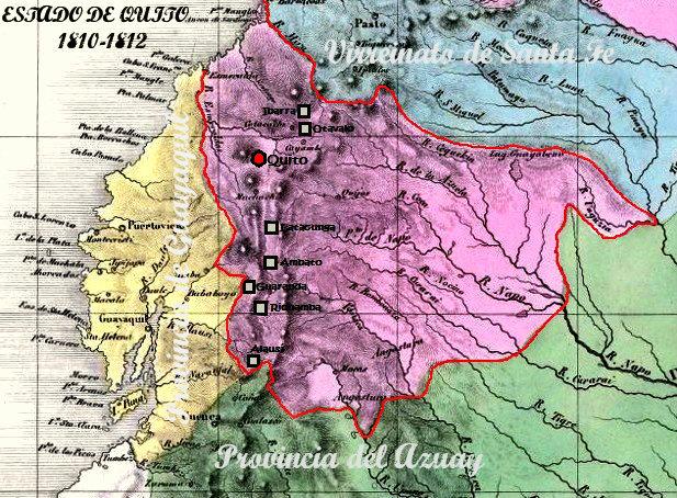 Mapa del Estado de Quito (1811-1812)