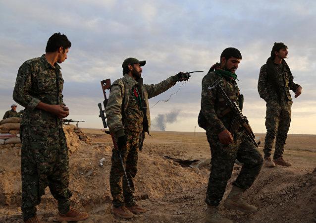 Los soldados de las Fuerzas Democráticas Sirias