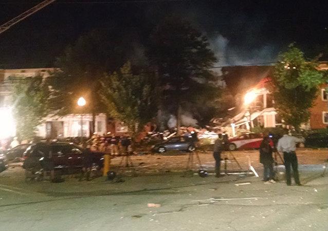 Explosión de gas en las afueras de la capital de EEUU, en Silver Spring (estado de Maryland)