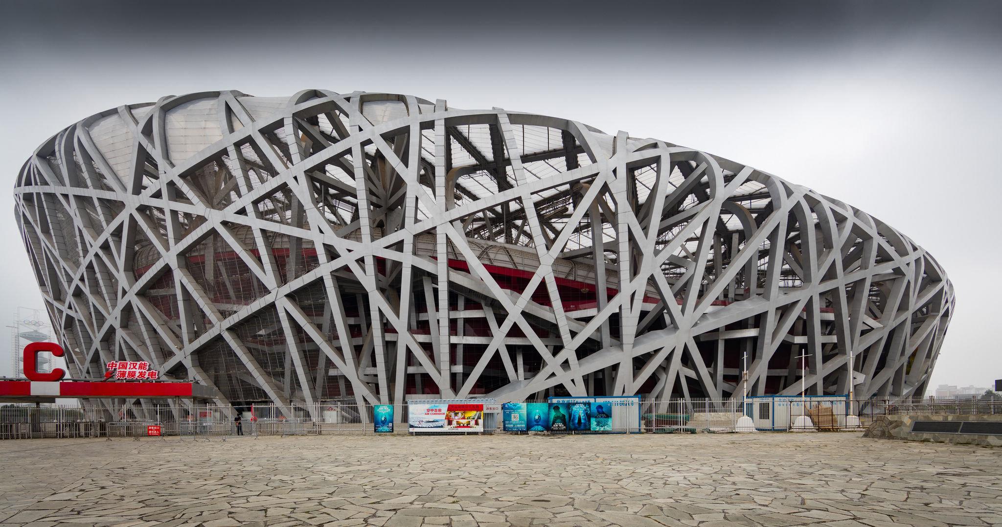Estadio nacional El Nido del Pájaro de Pekín. JJOO de verano de 2008.