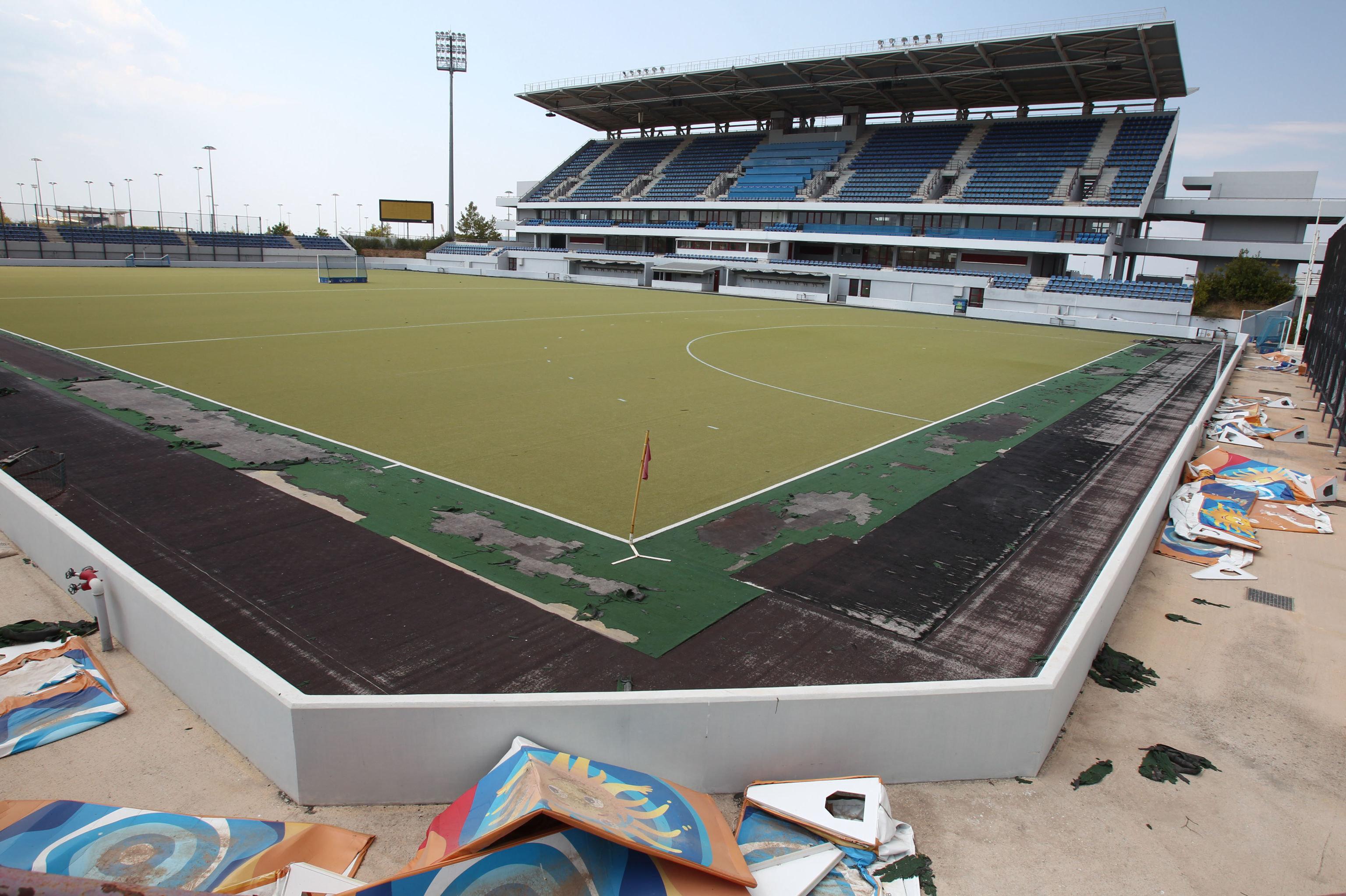 Estadio abandonado en Atenas. JJOO de Verano de 2004.