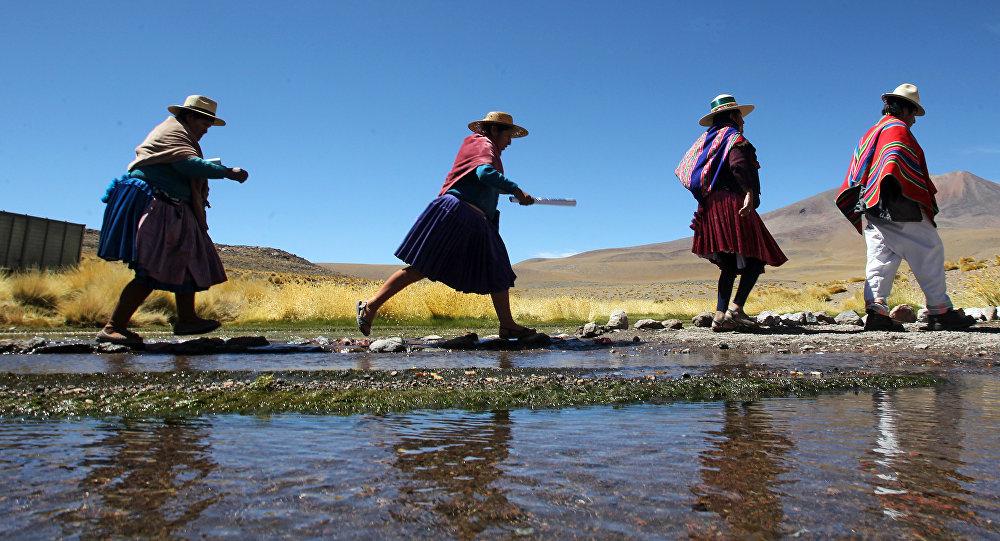 Indígenas aimará en Bolivia