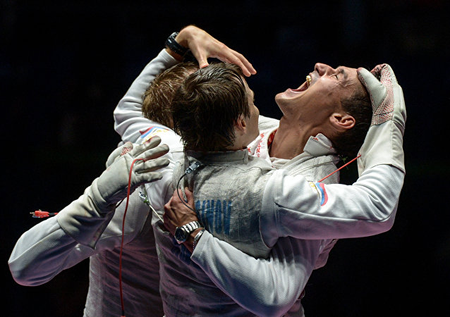 La selección masculina rusa de esgrima