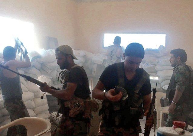 Militares sirios en Alepo (archivo)