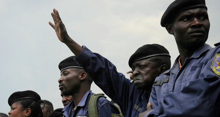 La policía de República Democrática de Congo