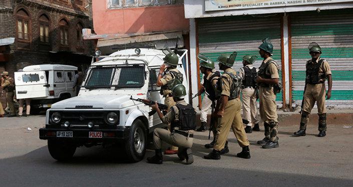 Los policías de la India
