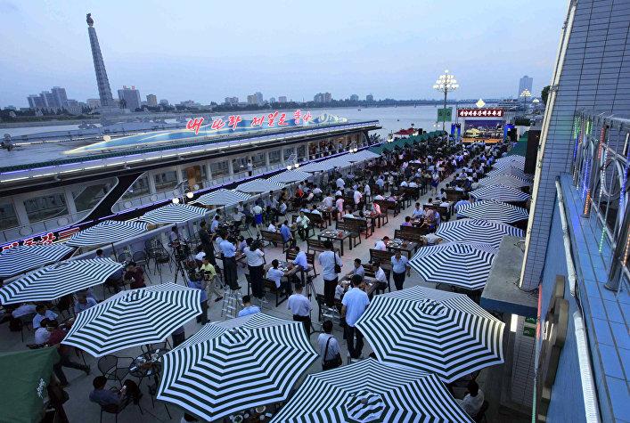 Festival de la cerveza celebrado en Corea del Norte