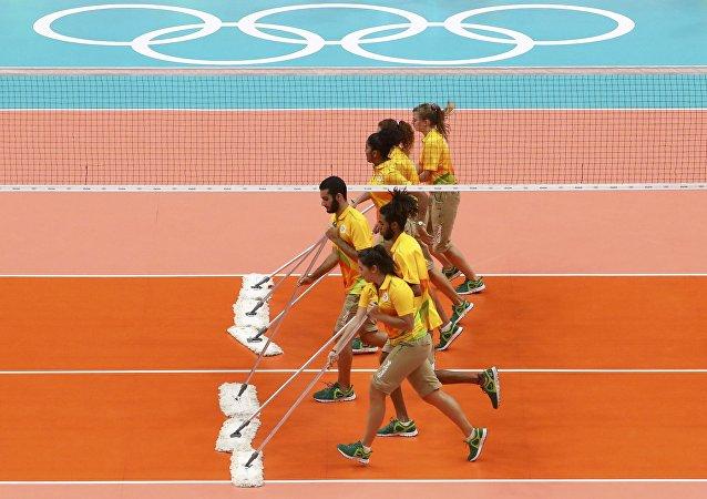Voluntarios en los Juegos Olímpicos de Río