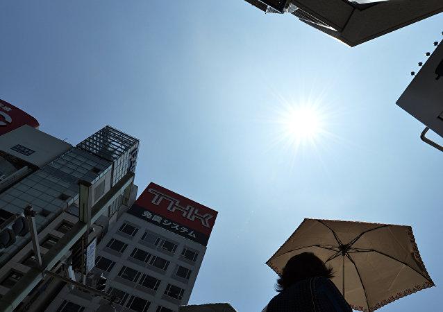 La ola de calor en Tokio, Japón