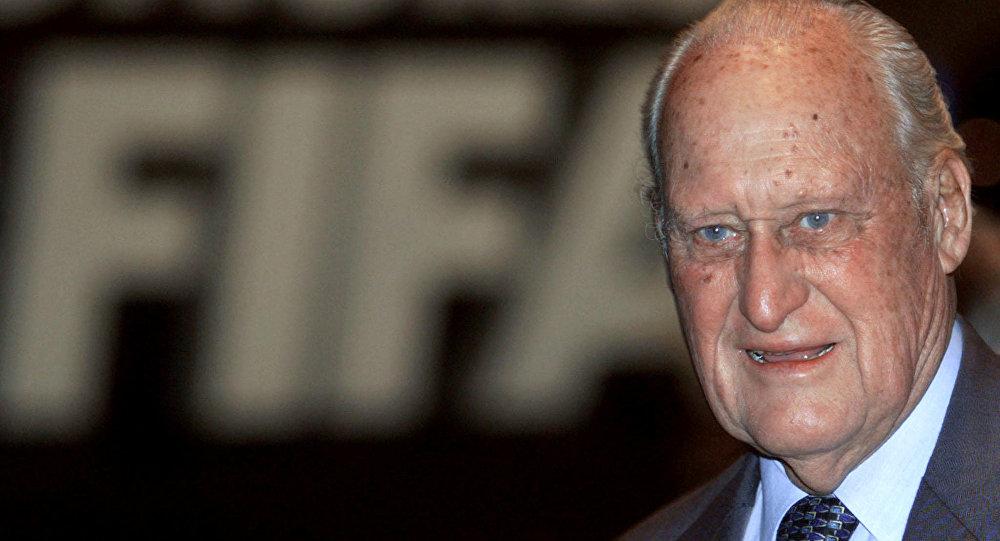 El brasileño João Havelange, que presidió la FIFA entre 1974 y 1998