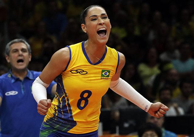 Jaqueline Carvalho durante los JJOO de Río 2016
