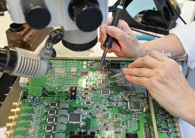 Una fábrica de microelectrónica rusa (archivo)