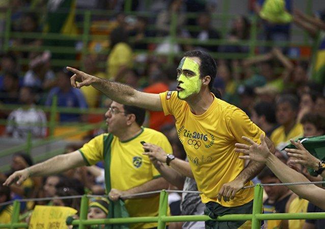 Hinchas brasileños (archivo)