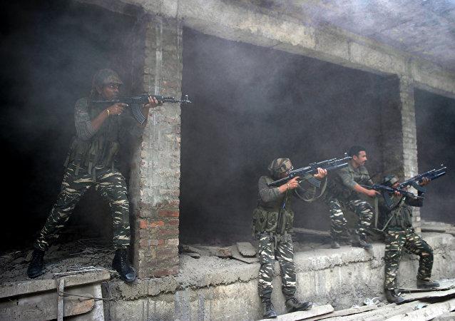Soldados del Ejército de la India