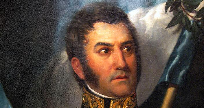 El retrato más canónico de José de San Martín.