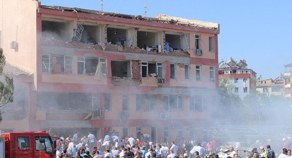 Lugar del atentado en la ciudad turca de Elazig