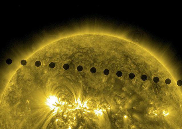 El tránsito de Venus sobre el disco solar
