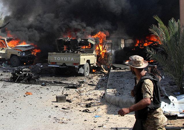 La situación en la ciudad libia de Sirte