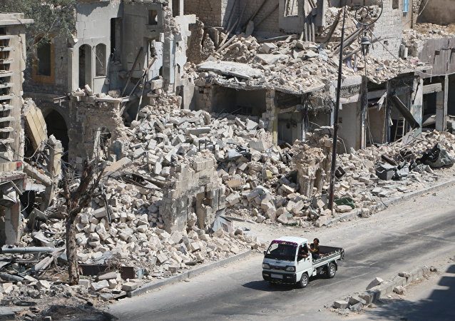 Un barrio destruido en Alepo