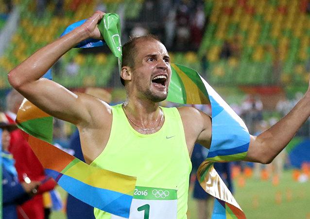 Alexander Lesun, campeón olímpico en pentatlón moderno