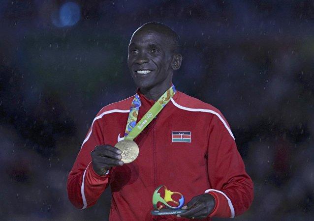 Eliud Kipchoge, el ganador de la maratón