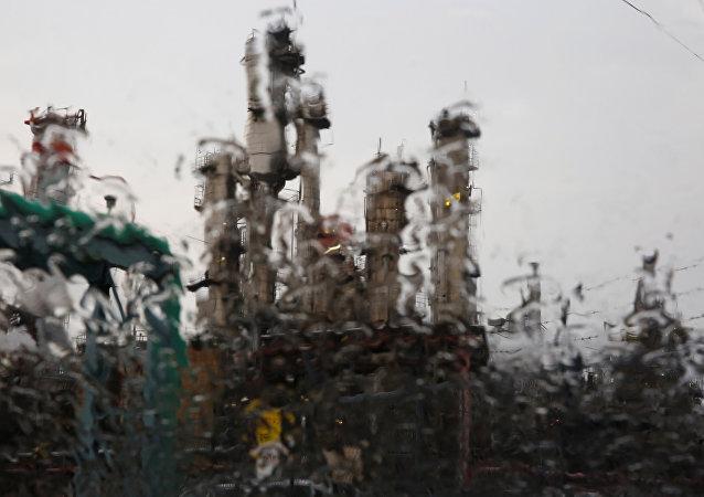 Lluvias en la ciudad japonesa de Kawasaki
