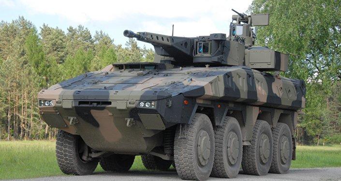 Un vehículo blindado alemán Boxer