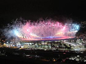 Increíbles fuegos artificiales pintan el cielo de Río de Janeiro en la clausura de los JJOO