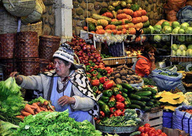 Mercado en Bolivia