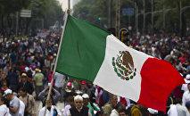 Protesta contra reforma educativa en México