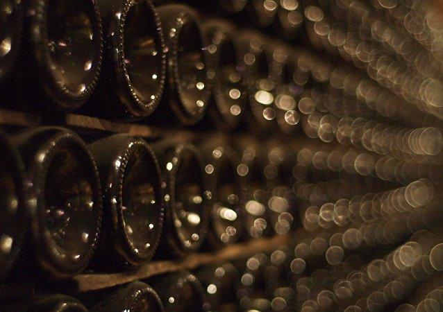 Botellas de champán