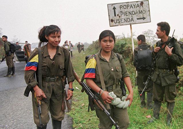 Combatientes de FARC (archivo)