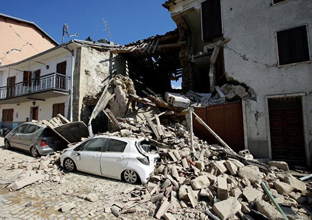 Consecuencias del terremoto en la región central italiana de Umbría