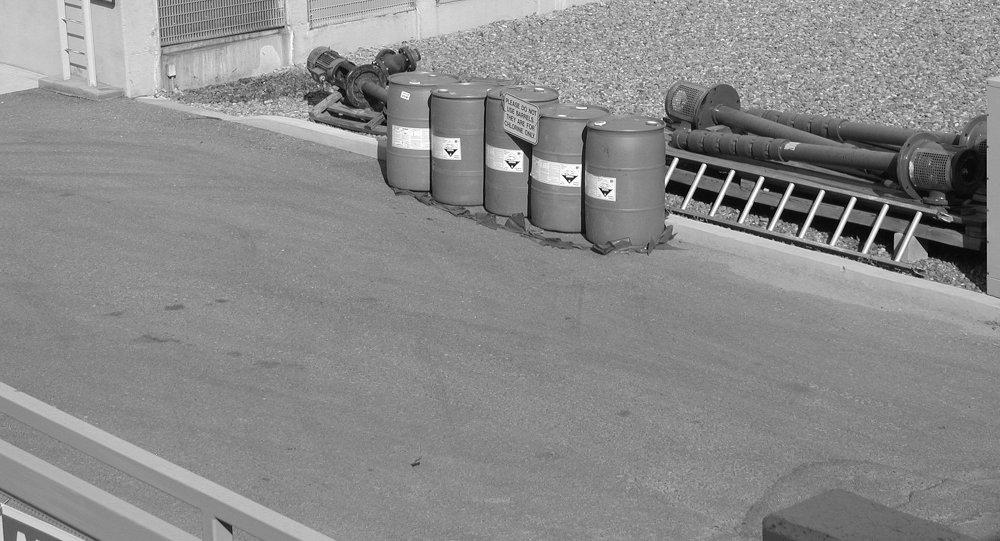Barriles con cloro