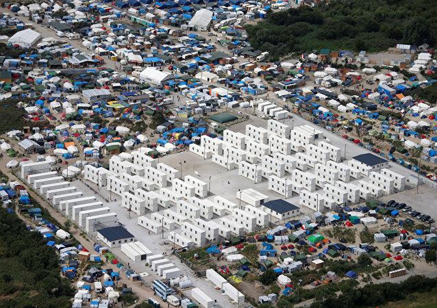 El campamento de refugiados en Calais, Francia