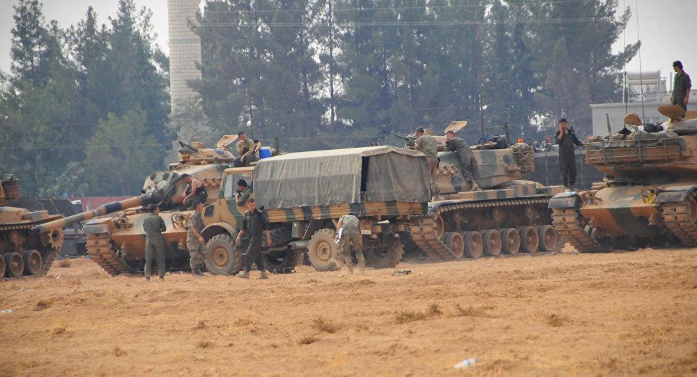 Tanques turcos en Siria (archivo)