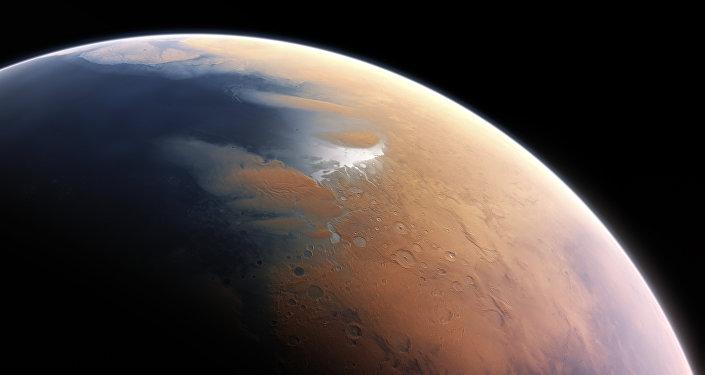 Impresión artística del Marte