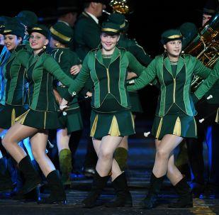 Moscú inaugura el festival internacional de orquestas militares Spasskaya Bashnia