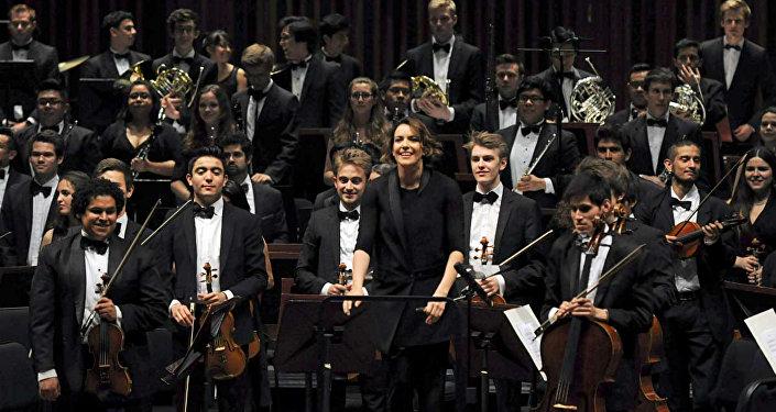 Una orquesta