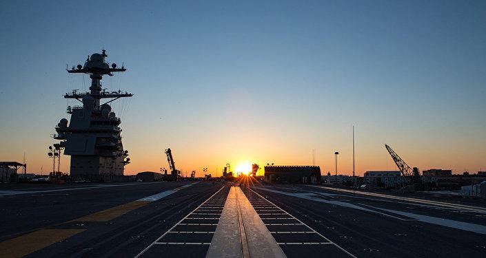 El portaviones estadounidense Gerald R. Ford (CVN-78)
