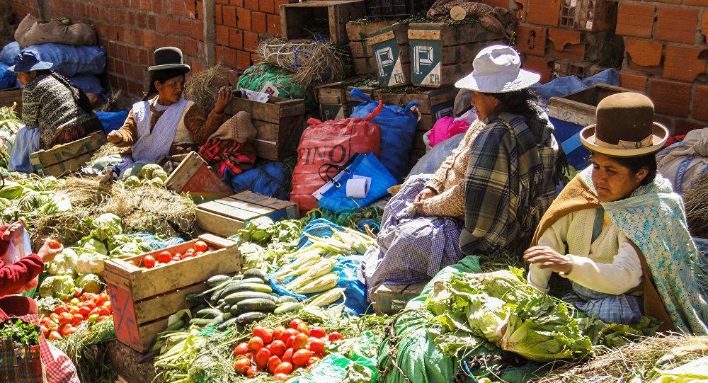Un mercado boliviano