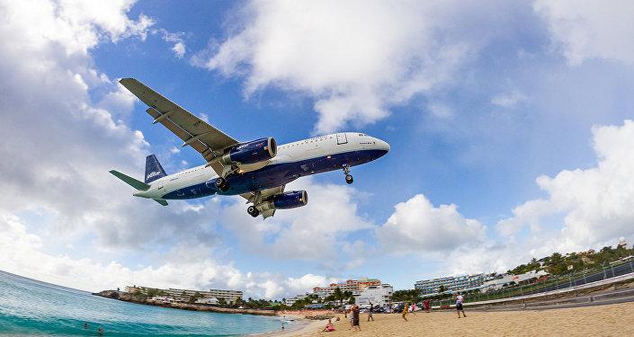 Avión de la compañía estadounidense JetBlue