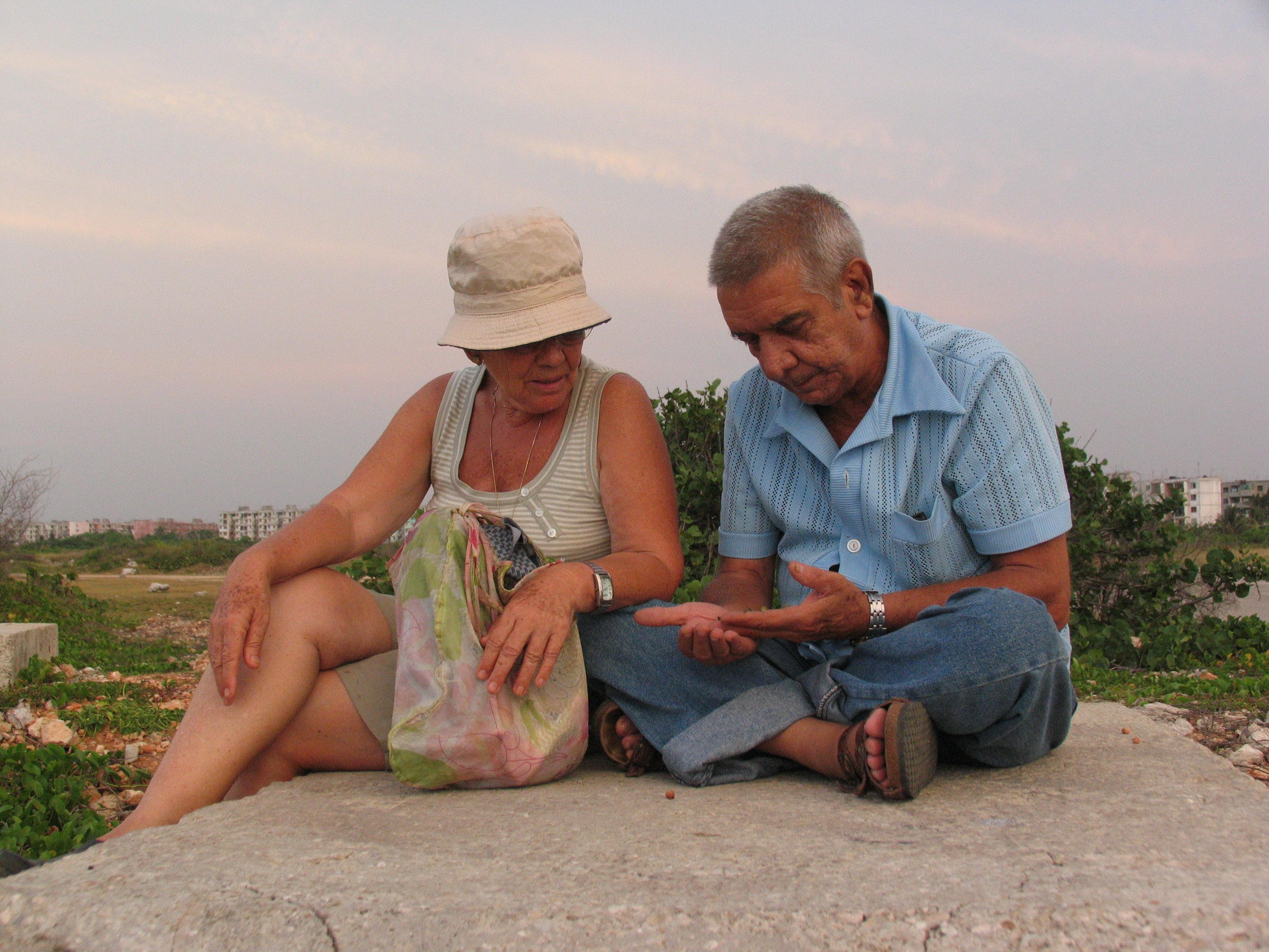 Catalina Sin Chesa con su marido